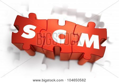 SCM - Text on Red Puzzles.