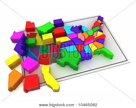 Puzzle Build Usa.