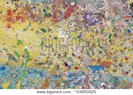 Colorful Painters Palette Abstract Background