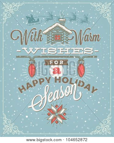 Christmas type design with holidays decoration