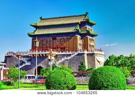 Beautiful Zhengyangmen Gate (qianmen Gate ). This Famous Gate Is Located At The South Of Tiananmen S
