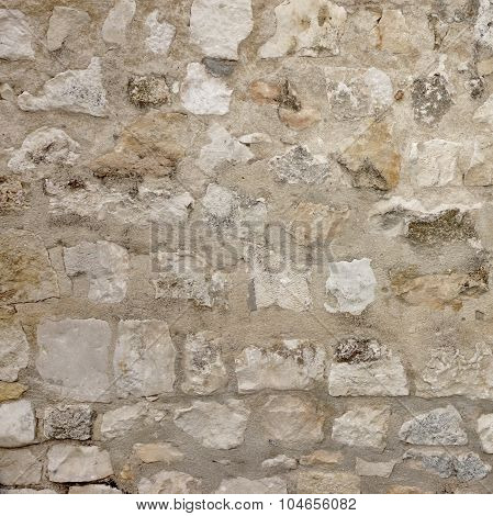 Granite Stone Wall With Cement Seam, Stonework Frame Background