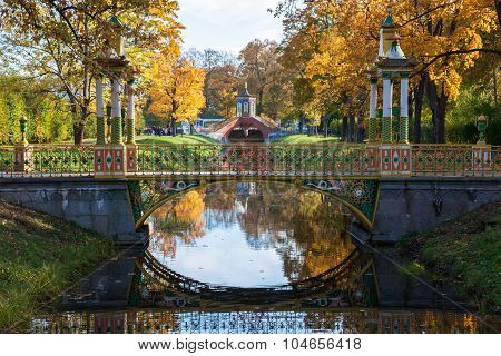 Small Chinese and Krestovy bridges in Tsarskoye Selo (Pushkin), near Saint Petersburg