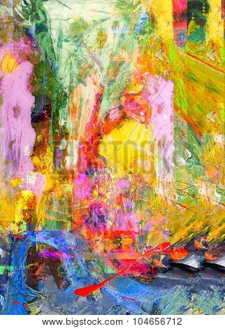 Nice Large scale Original abstract Oil Painting On Glass