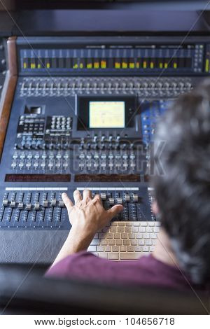 Sound Engineer Working