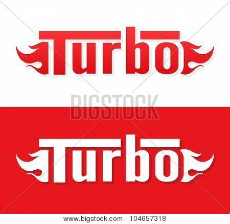 Turbo vector logo design