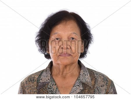 Portrait Of Asian Old Woman