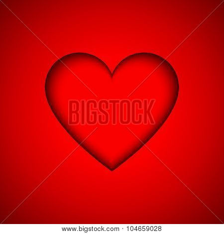 Red vector heart