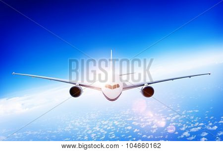 3d Airplane Aircraft Flight Flying Vacation Illustration Concept