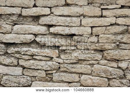 Limestone White Wall Background Texture