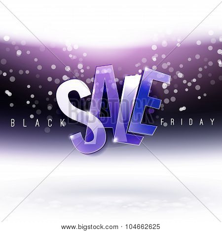 Night Sky With Black Friday Sale Message