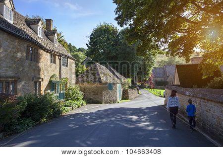 Walking In Cotswold Village, England
