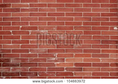 Modern Red Brick Wall Horizontal Background Texture