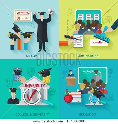 Higher Education Flat Set