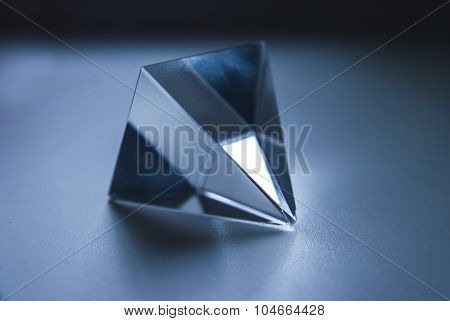 Glass Prism. The Pyramid. Geometric Forms. Science.