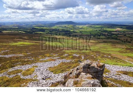Heathland And Scree At Stiperstones, Shropshire, England