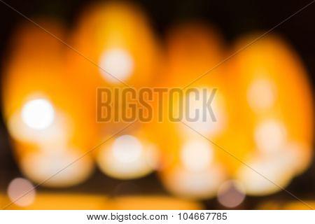 De Focused Orange Lamp In Background