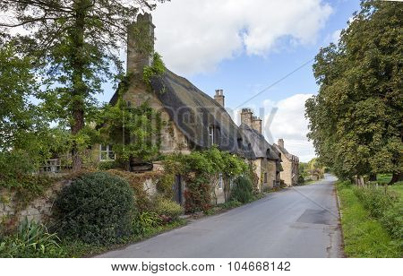 Cotswold Thatched Cottages, England
