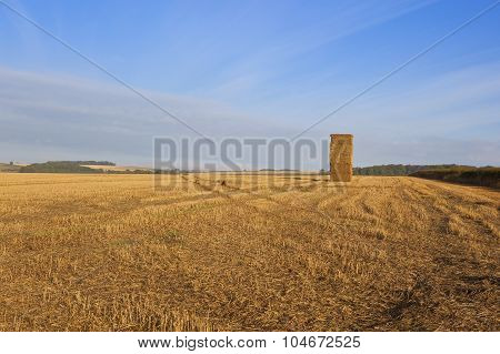 Hay Stack In Autumn