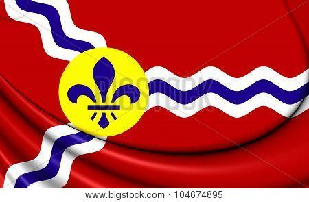 Flag Of St. Louis (missouri), Usa.