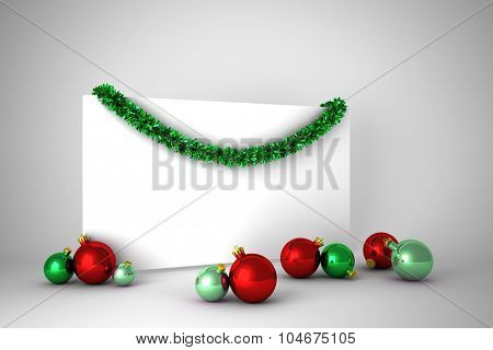 Christmas decoration and poster with copy space