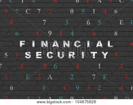 Security concept: Financial Security on wall background