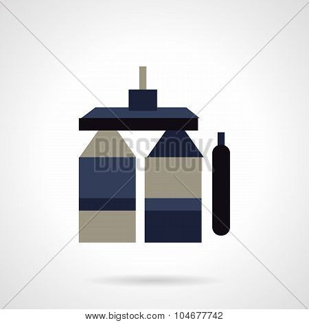 Store of chemicals flat color vector icon
