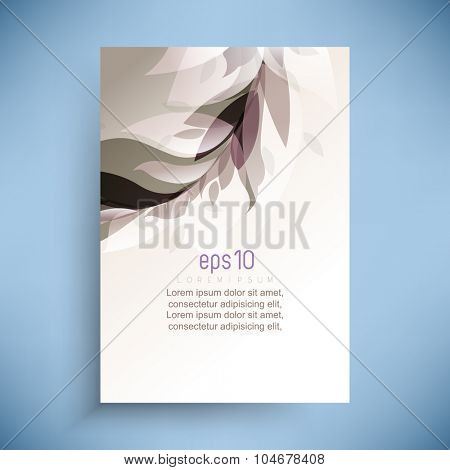 abstract wedding feminine concept transparent leaves overlapping elegant background