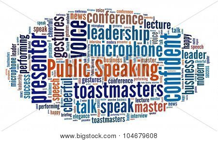 Public Speaking in word collage