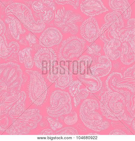 Mhendi pattern vector.