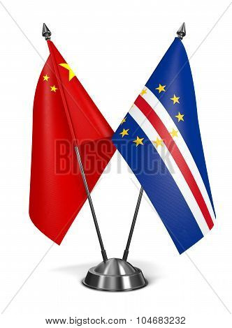 China and Cape Verde - Miniature Flags.