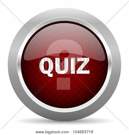 quiz red glossy web icon