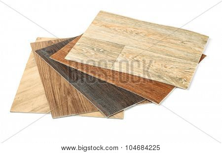 Samples of linoleum isolated on white