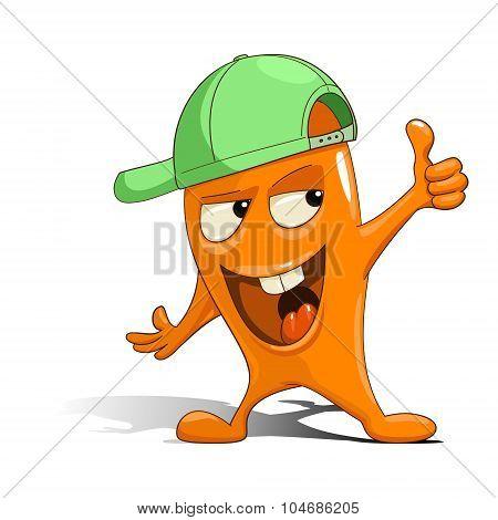 Cartoon orange character alien