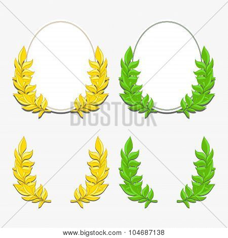 Laurel wreath and ellipse vector illustration