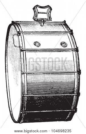 Big rods box, vintage engraved illustration. Industrial encyclopedia E.-O. Lami - 1875.