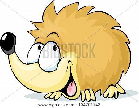 Cute Hedgehog - Vector Illustration