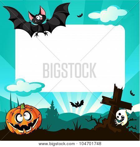 Halloween Frame - Vector Illustration