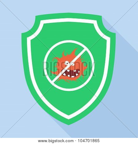 Vector Guard Green Shield Icon antivirus