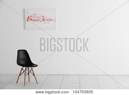 Office chair in the room