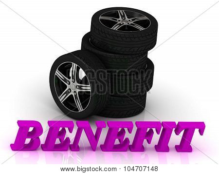 Benefit- Bright Letters And Rims Mashine Black Wheels