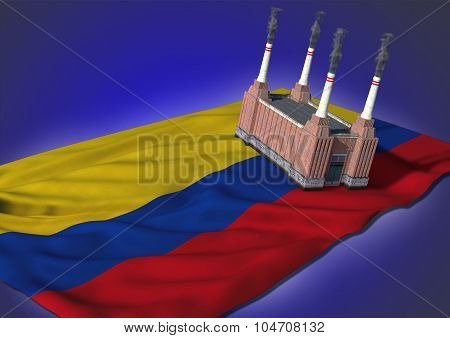 national heavy industry concept - Colombian theme