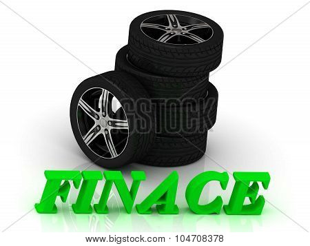 Finace- Bright Letters And Rims Mashine Black Wheels