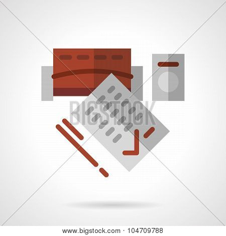 Long-term rental flat vector icon