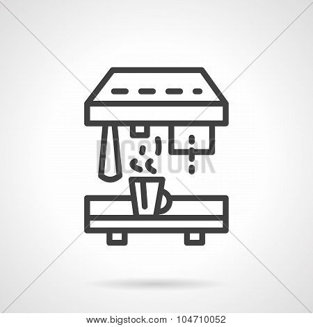 Professional coffee machine black line vector icon