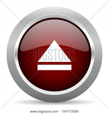 eject red glossy web icon
