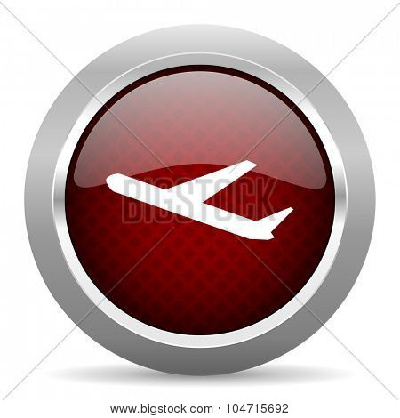 departures red glossy web icon