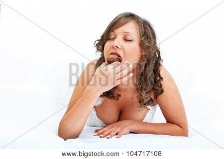 Bride Eating Muffin