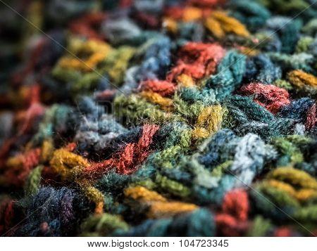 Variegated Crochet Background