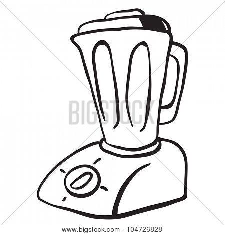 simple black and white blender cartoon
